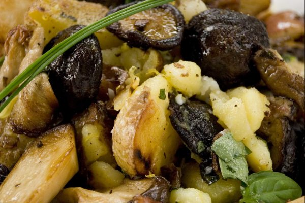 Basil Smashed Potatoes and Mushrooms from Road Grill