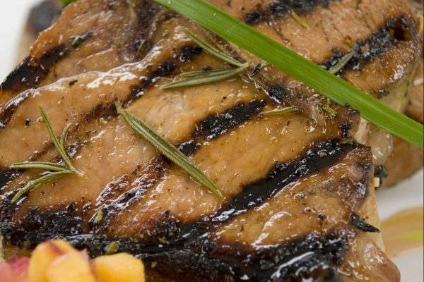 Maple Apple Brined Pork Chops from Road Grill