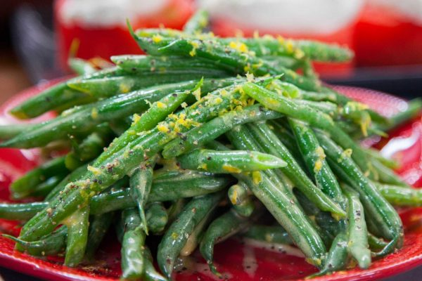 Green beans in vinaigrette