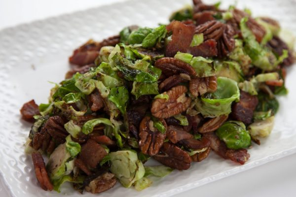 Warm Brussel Sprouts and Bacon