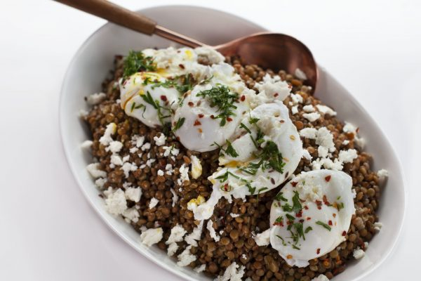 Warm Lentils and Poached Eggs from Spencer's BIG 30