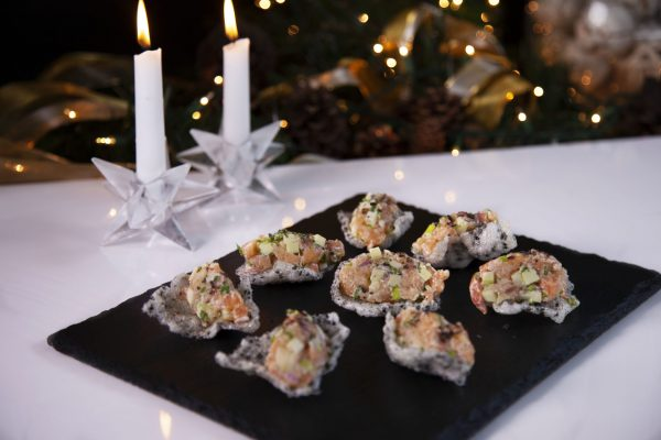 Salmon Tartare Bites from Spencer's BIG Holiday