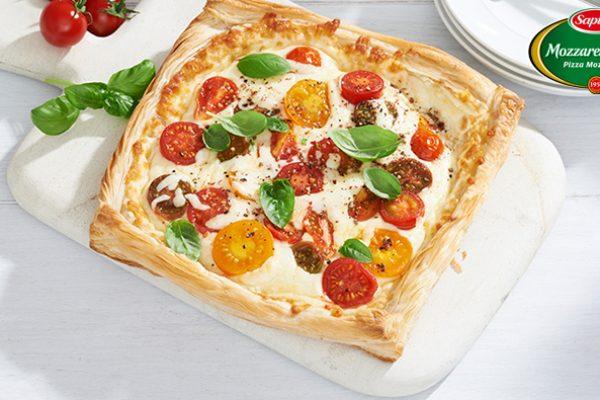 Summer Tomato Mozzarellissima Cheese Tart