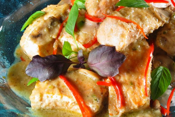 Thai Green Curry Salmon - pic 003
