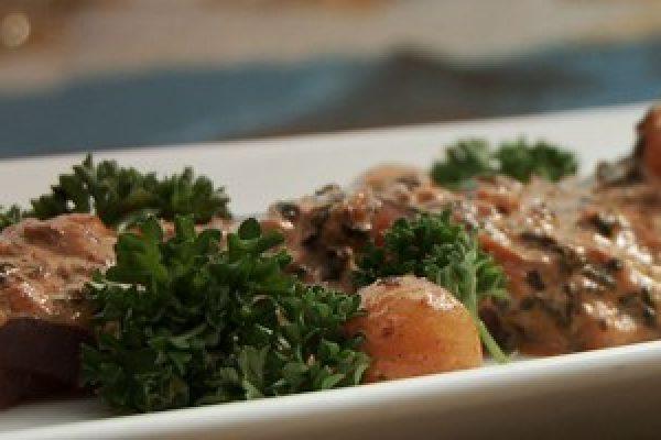 Tuna Carpaccio with Tomato Suquet