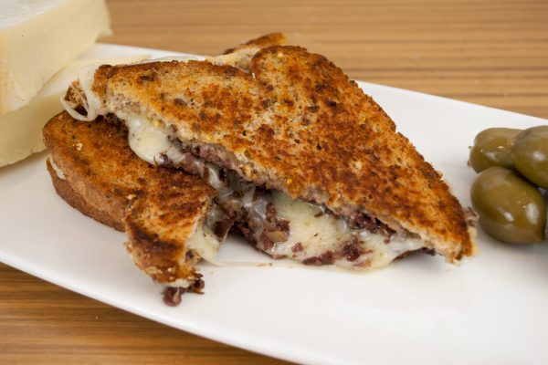 Olive Tapenade and Gruyere Grilled Cheese from The Urban Vegetarian