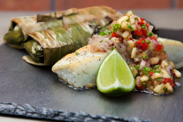 Banana Leaf-Wrapped Halibut from Watts on the Grill