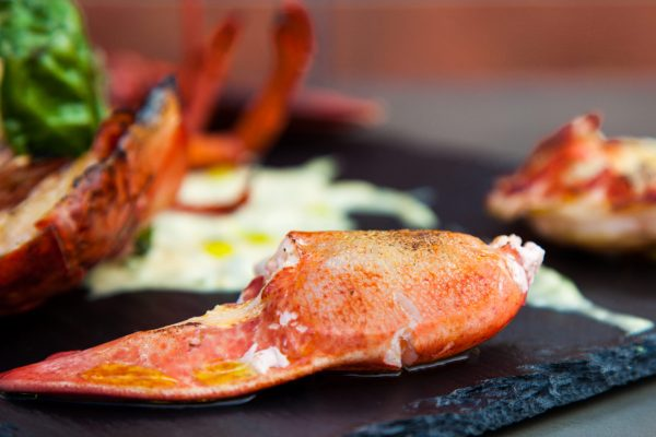 Lobster with Basil Mayo from Watts on the Grill