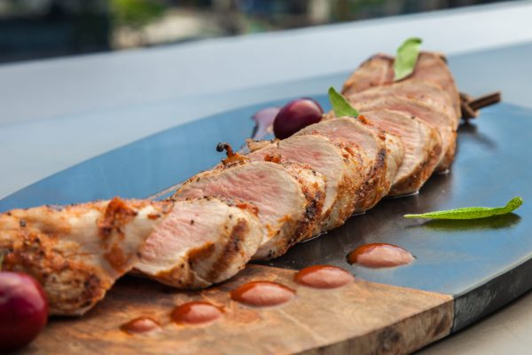 Pork Tenderloin with Cherry Cola Sauce from Watts on the Grill