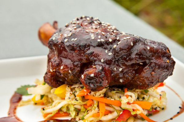 Smoked Lamb Shanks with Asian Barbeque Sauce from Watts on the Grill
