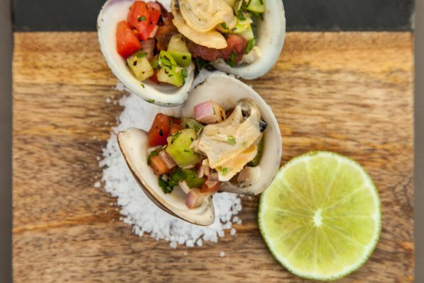 Clams with Tomatillo Salsa from Watts on the Grill