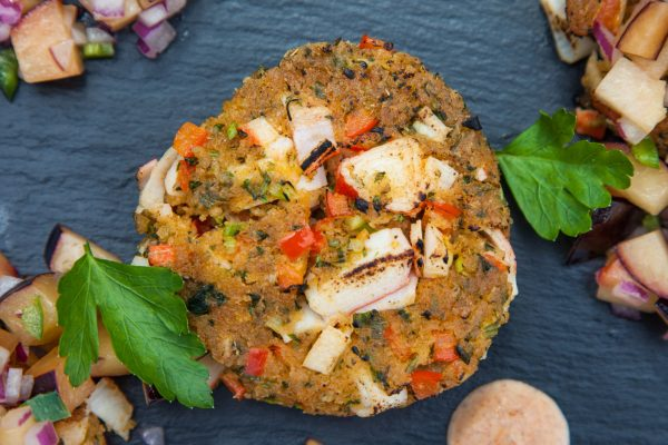 Crab Cakes with Plum Salsa from Watts on the Grill