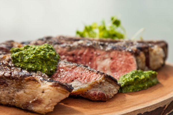 Rib Steak with Chimichurri from Watts on the Grill
