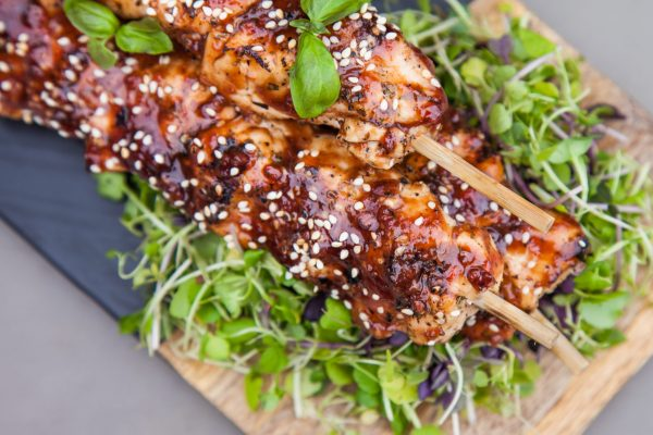 Chicken Skewers with Plum Sauce from Watts on the Grill