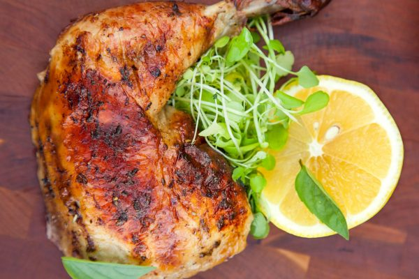 Lemonade Spit Roasted Chicken from Watts on the Grill