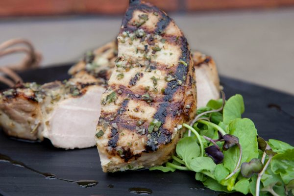 Herb-Brined Pork Chops from Watts on the Grill