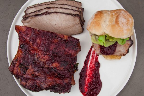 Pork Shoulder with Blackberry Glaze from Watts on the Grill