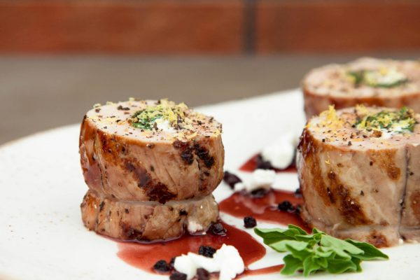 Stuffed Pork Tenderloin with Red Currant Glaze from Watts on the Grill