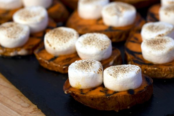 Grilled Sweet Potato With Marshmallow