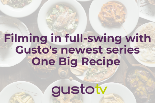 filming in full-swing with gusto's newest series one big recipe