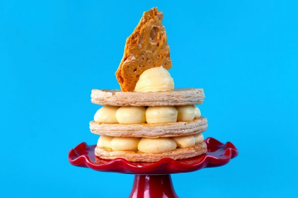 Honey-Apricot Custard Tower