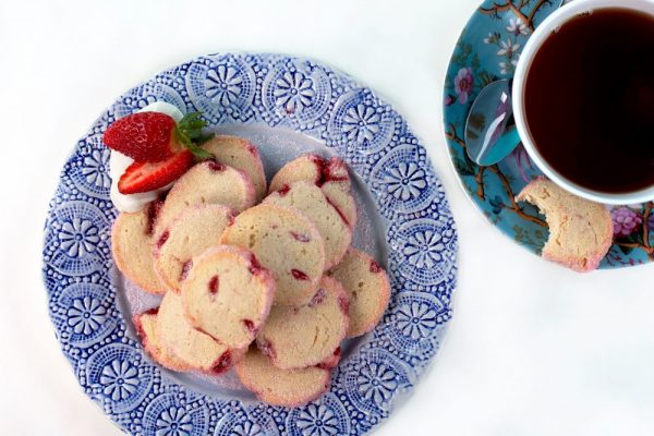 Strawberries and Cream Icebox Cookies